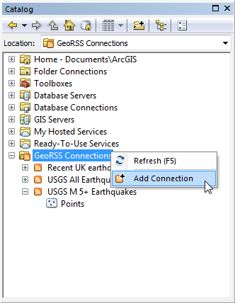 XTools Pro Help - Working with GeoRSS in ArcGIS